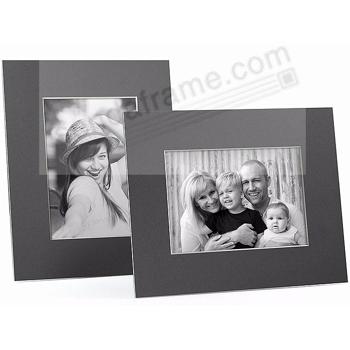 GRAY/White Core BEVEL-CUT Easel 5x7 Frame Paper Stock (sold in 6s)