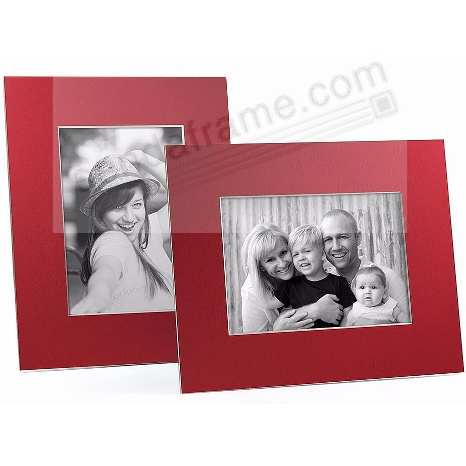 RED/White Core BEVEL-CUT Easel 4x6 Frame Paper Stock (sold in 6s)