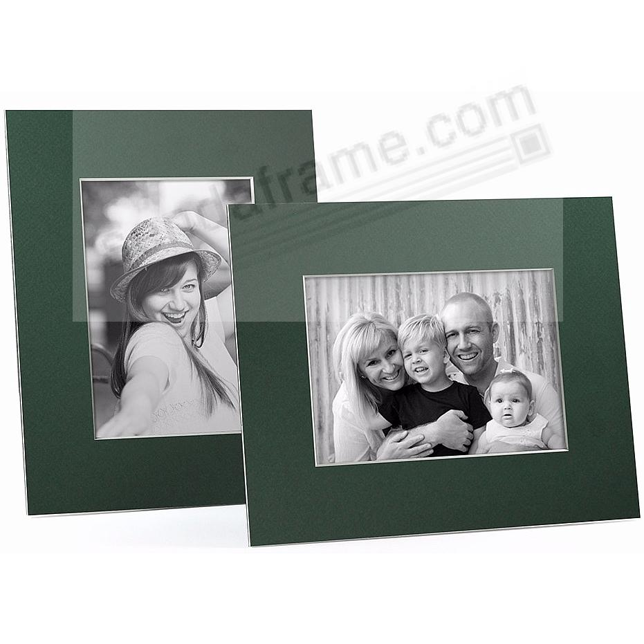 DARK GREEN/White Core BEVEL-CUT Easel 8x10 Frame Paper Stock (sold in 6s)