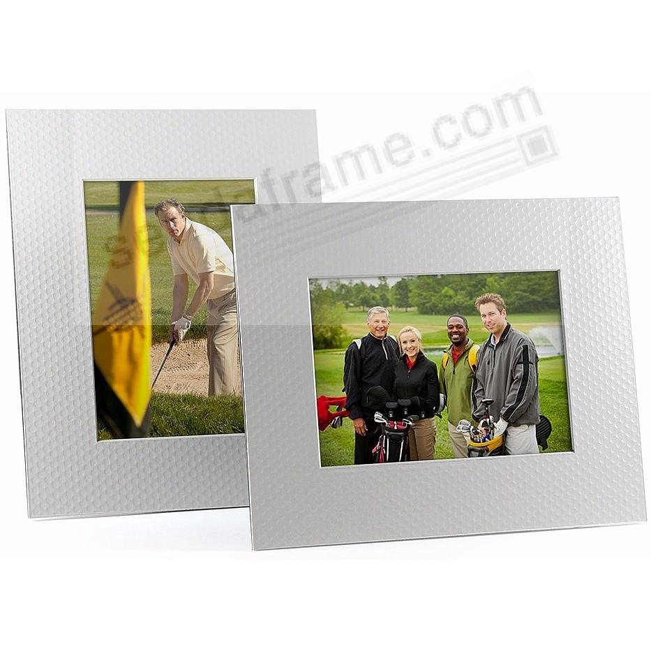 Golf Dimple Mat Board 5x7 Frame with Bevel Cut Window and Easel Back (sold in 6s)