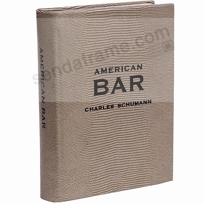 AMERICAN BAR Limited Edition Book in Fine Brown Tejus Leather by Graphic Image™