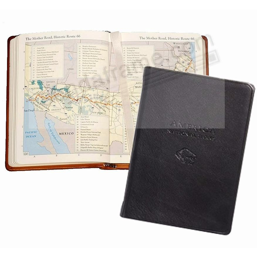 AMERICA NATIONAL PARKS Atlas in BLACK Traditional Leather by Graphic Image™