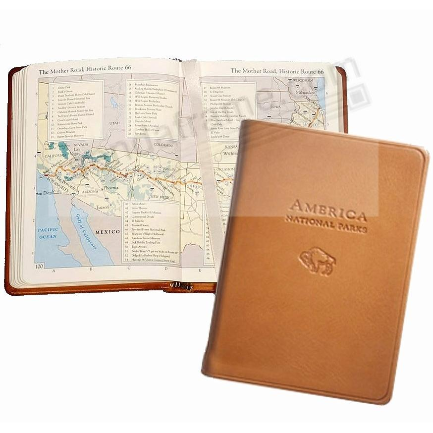 AMERICA NATIONAL PARKS Atlas in BRITISH TAN Traditional Leather by Graphic Image™
