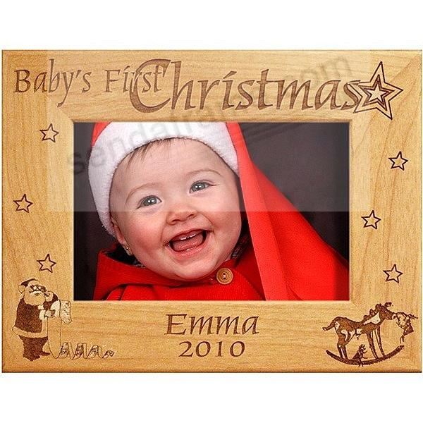 baby zoom babys first christmas keepsake frame personalized
