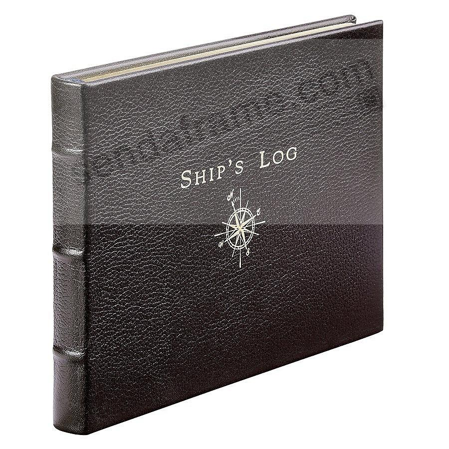SHIP'S LOG in Mocha Fine Leather by Graphic Image™