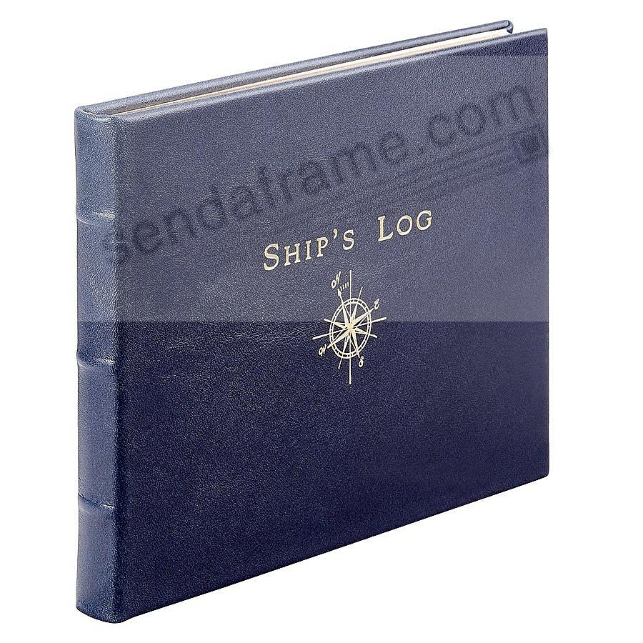 SHIP'S LOG in Blue Fine Leather by Graphic Image™