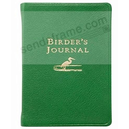 Pocket-size BIRDERS JOURNAL Brights-Green leather by Graphic Image™
