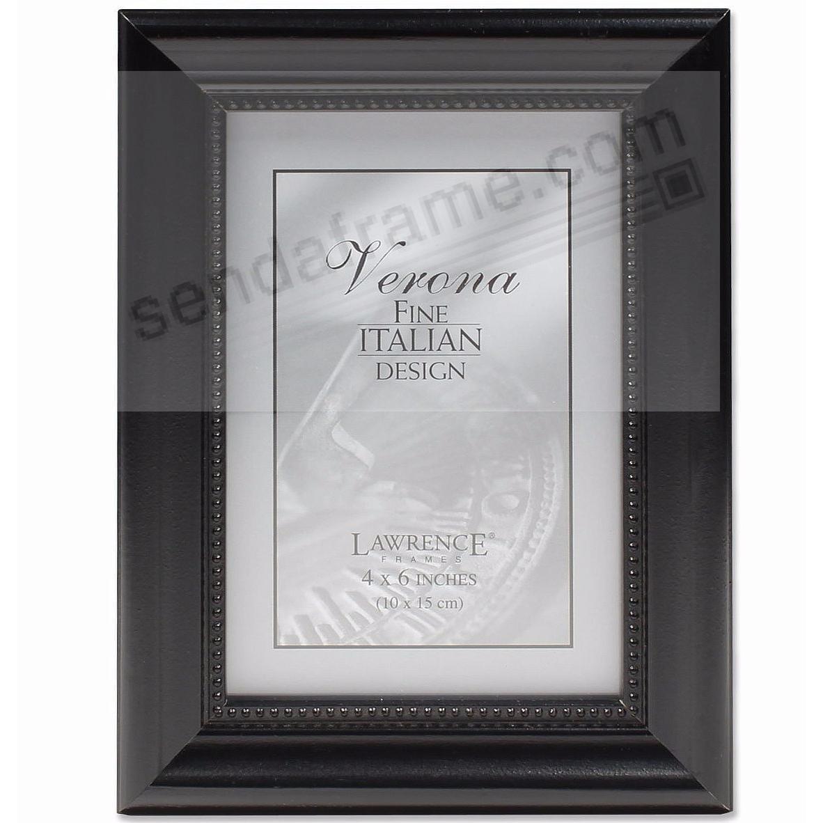 Ebony-Black Bevelled / Beaded 4x6 frame by Lawrence® - Picture ...