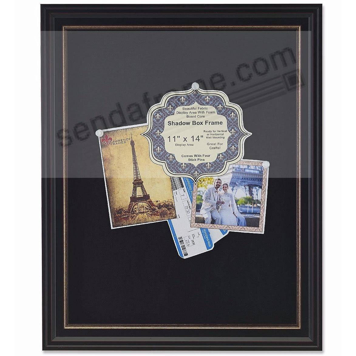 Black Deep Craft 11x14 ShadowBox w/Gold Linen Liner by Lawrence®