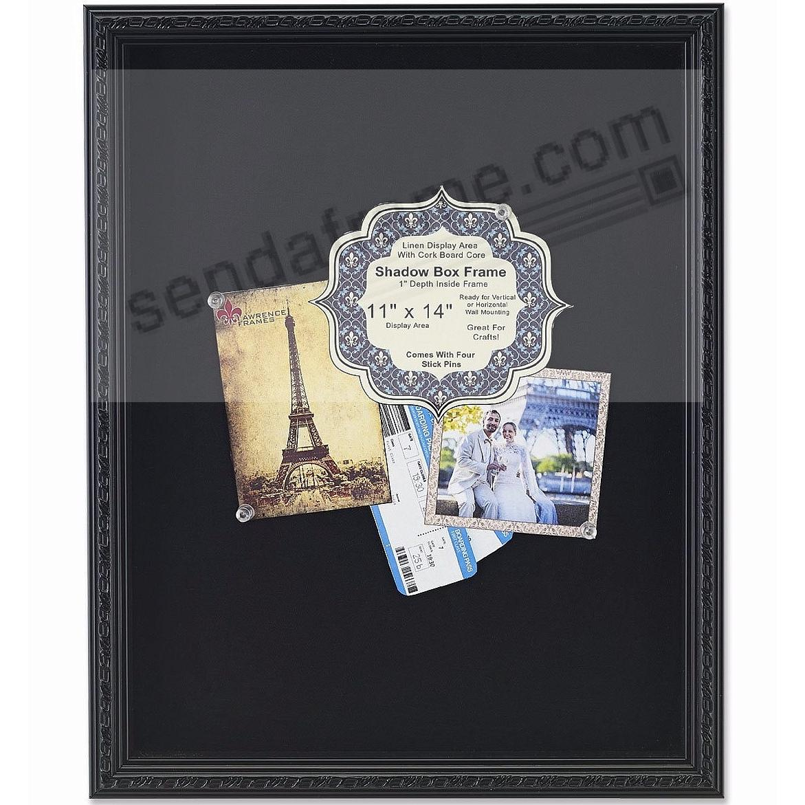 Black Deep Craft Frame with Decorative Border Trim 11x14 ShadowBox by Lawrence®