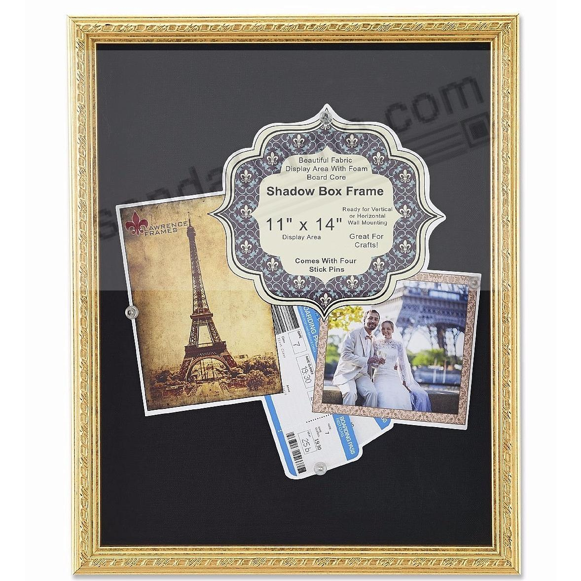 Gold Deep Craft Frame with Decorative Border Trim 11x14 ShadowBox by Lawrence®