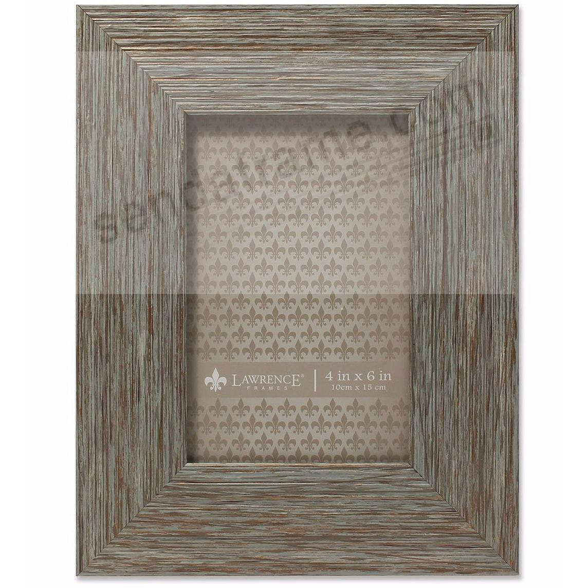 Weathered Blue/Grey Wood 4x6 Frame by Lawrence®