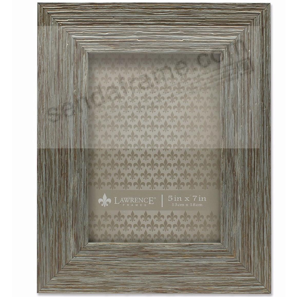 Weathered Blue/Grey Wood 5x7 Frame by Lawrence®