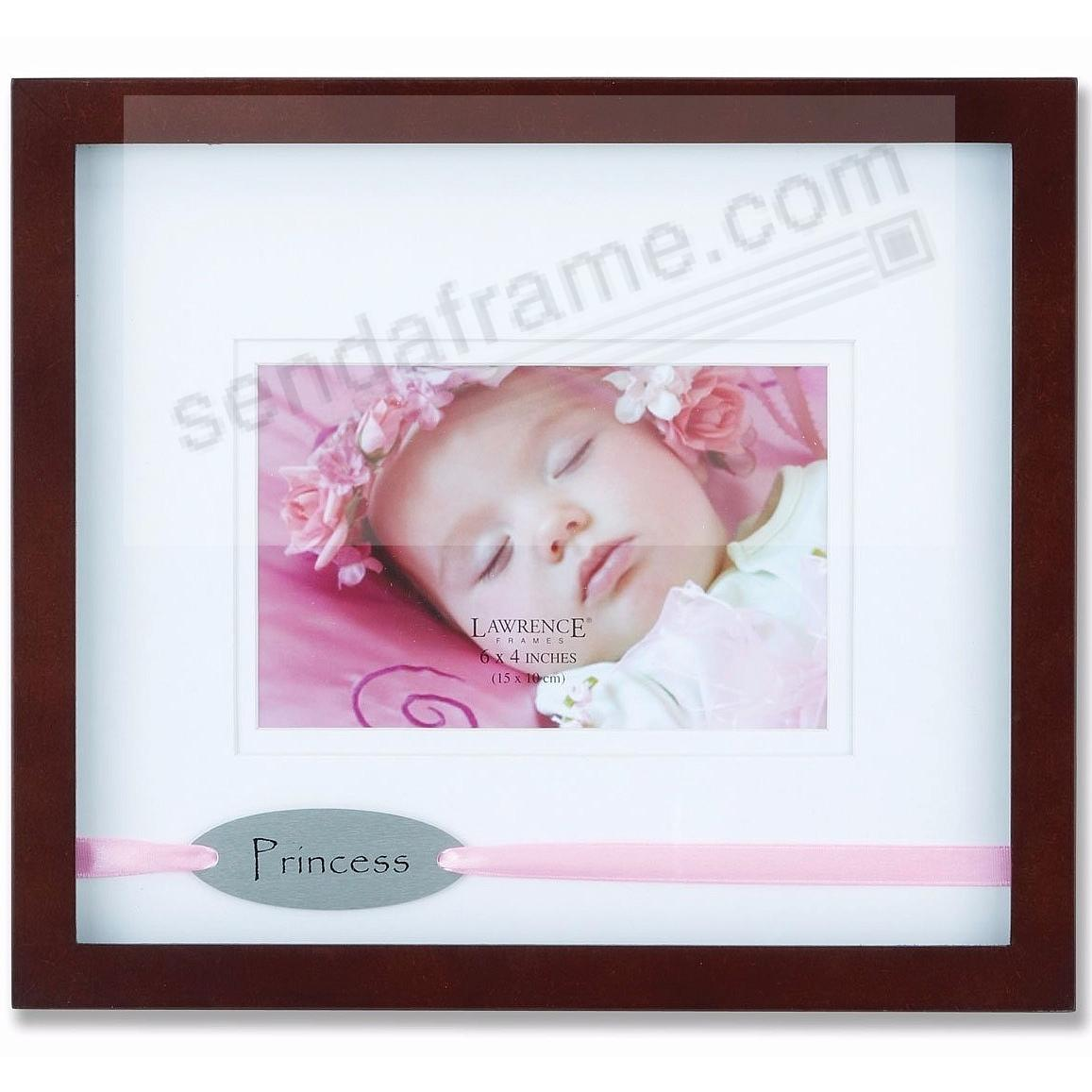 PRINCESS in Walnut Double Matted shadow frame by Lawrence®