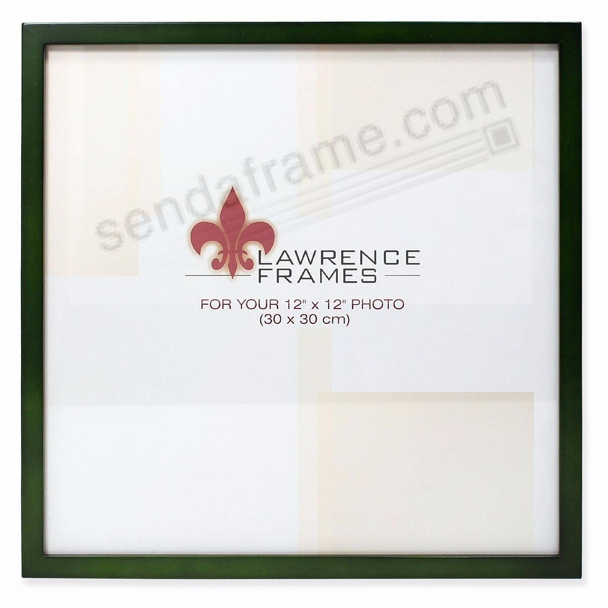 SQUARE CORNER Green Stain classic 12x12 frame by Lawrence Frames®