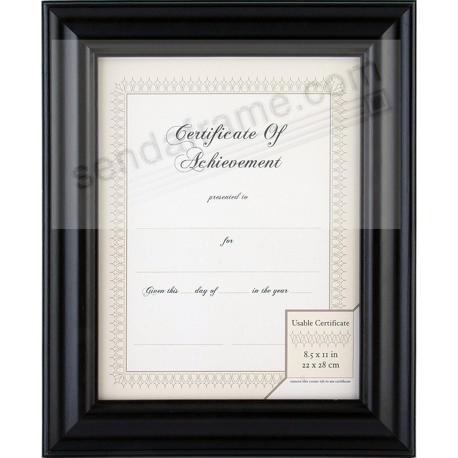 satin black 11x8frac12 certificate frame by gallery solutionsreg
