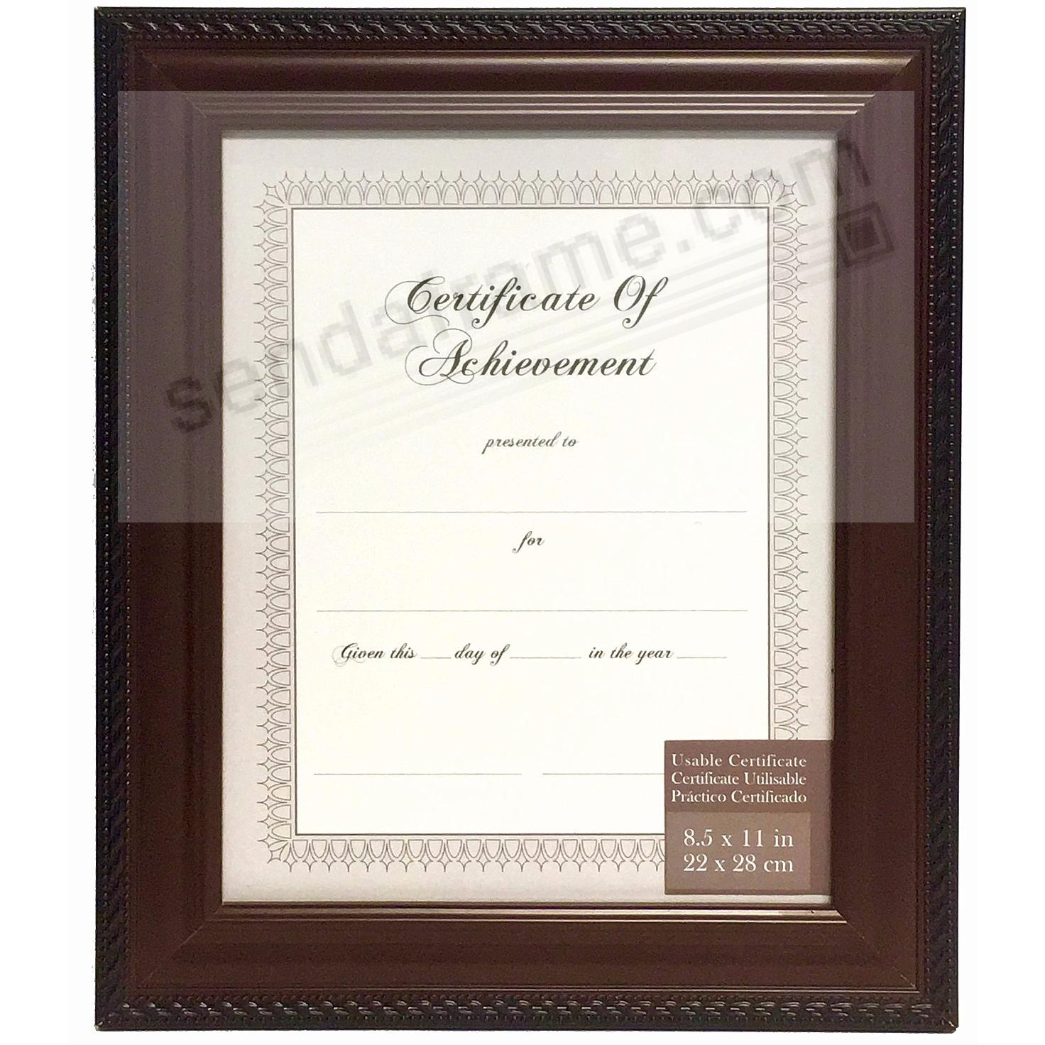 MAHOGANY / BLACK 8½x11 Certificate frame by Gallery Solutions®