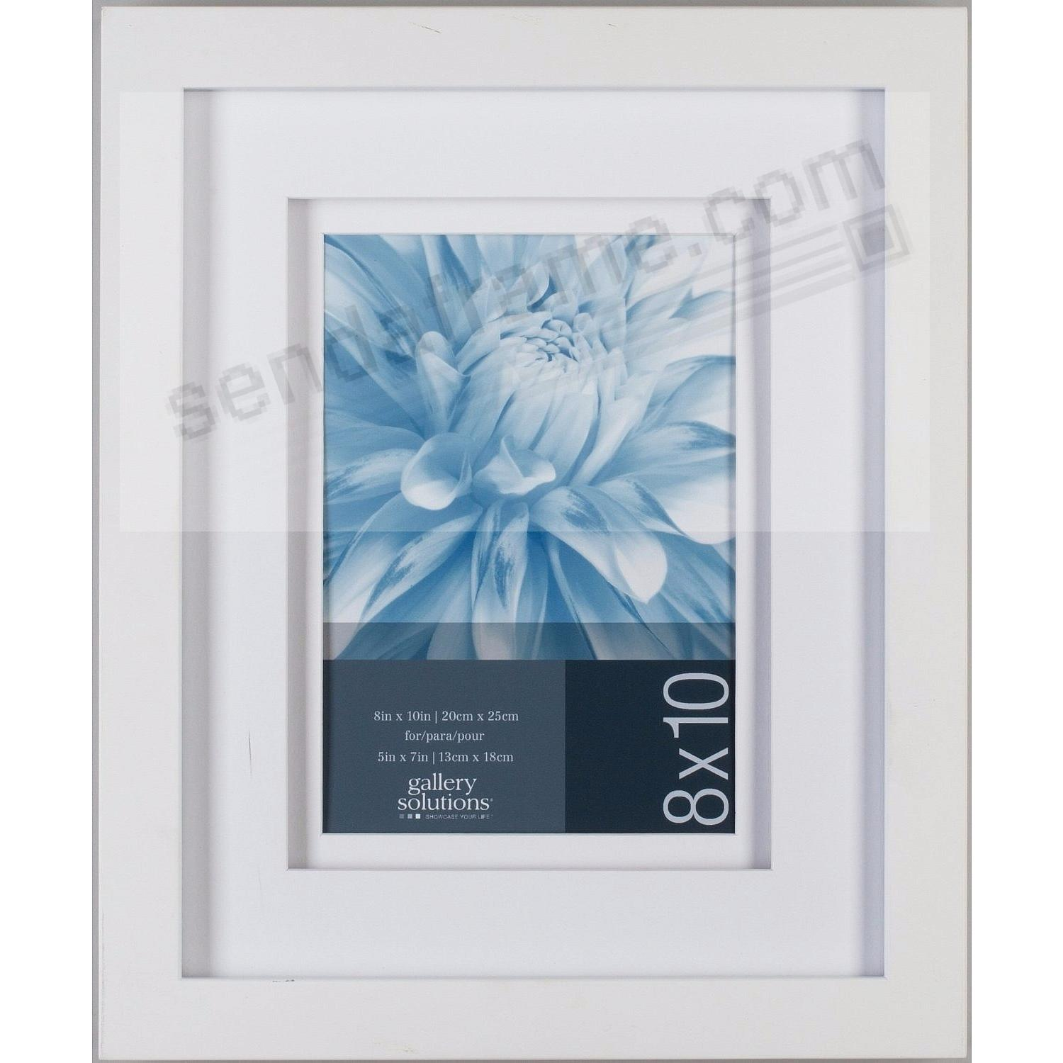 White Wall 8x10/5x7 Frame with AirFloat White Mat by Gallery ...
