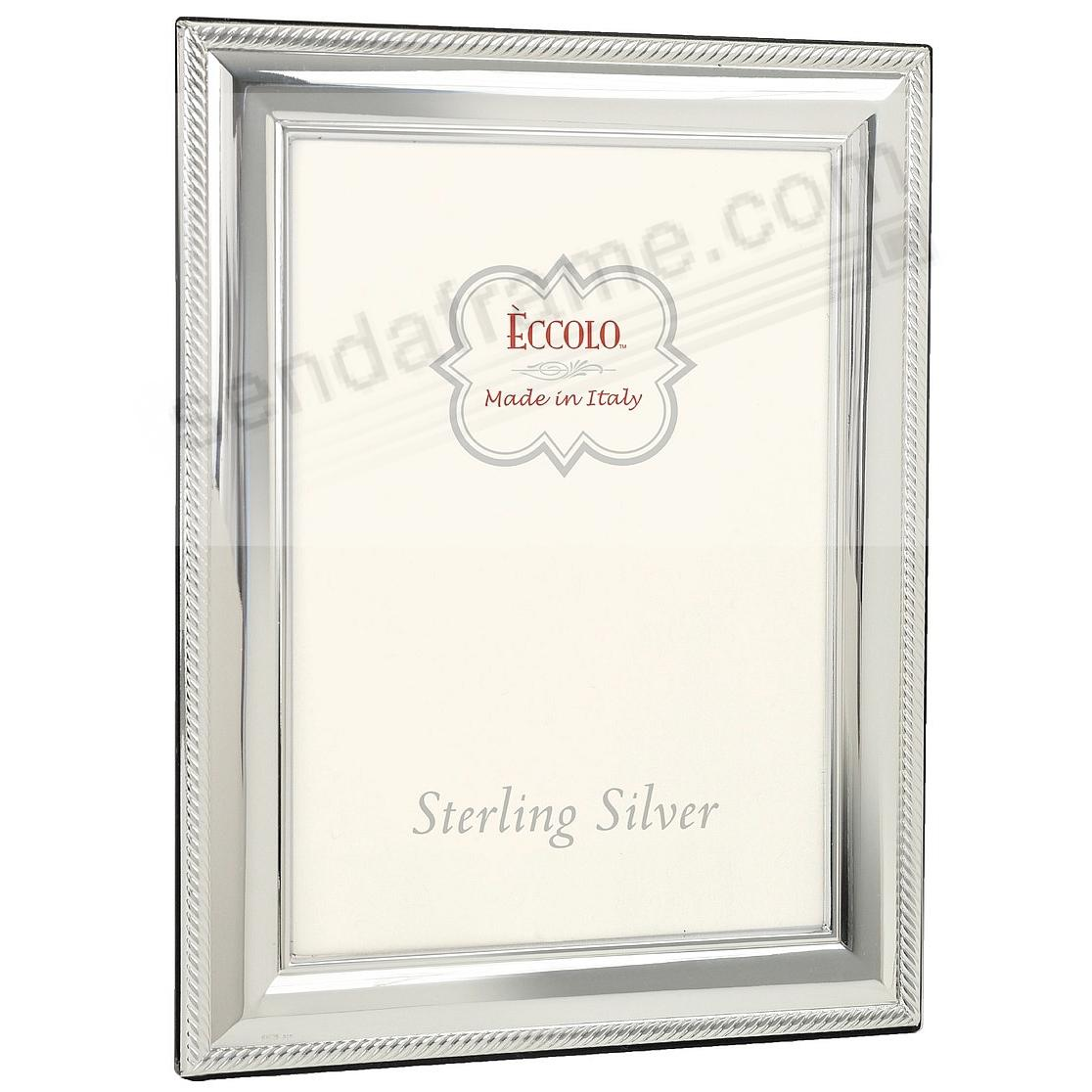 ROPE BORDER Fine .925 Sterling Silver frame from Italy by Eccolo ...