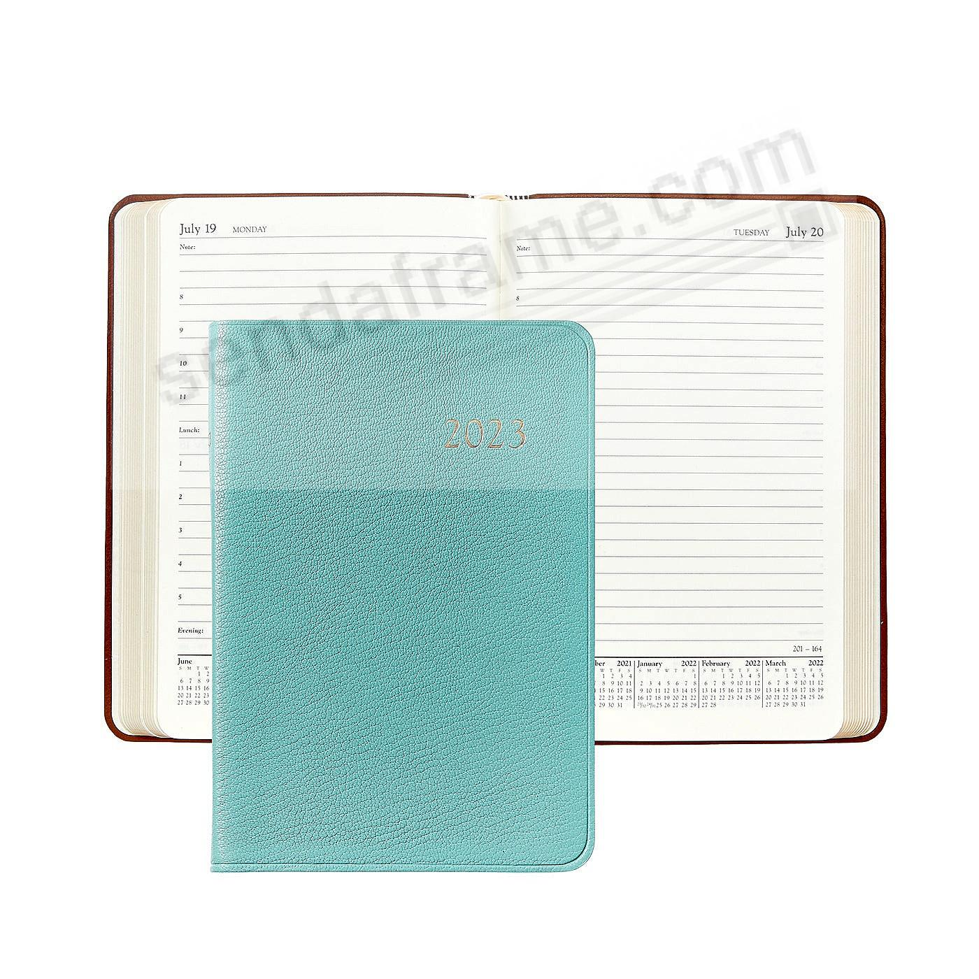 2019 ROBINS-EGG BLUE Goatskin leather Daily 8in Journal by Graphic Image™