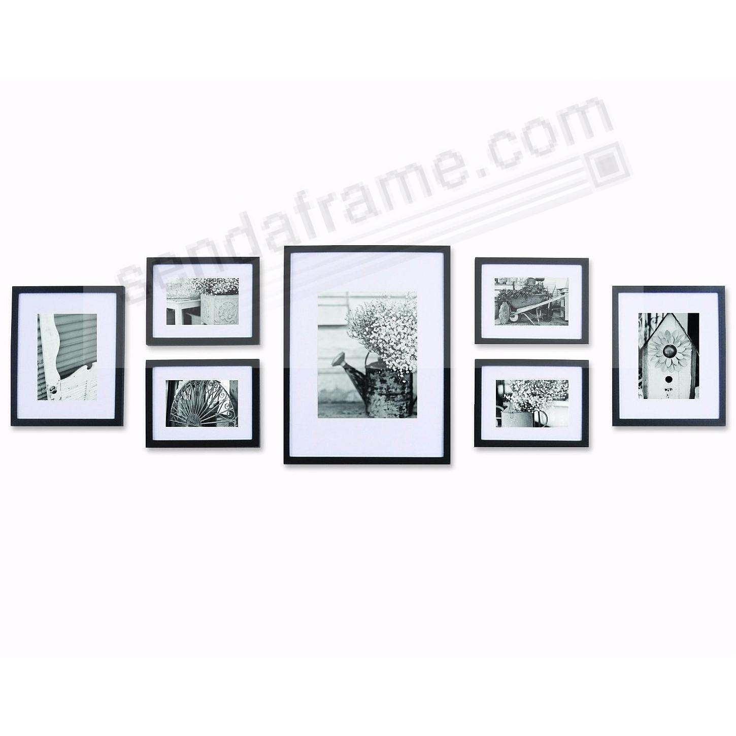 Picture frames photo albums personalized and engraved digital 7piece black wood wall frame kit by gallery solutions jeuxipadfo Image collections