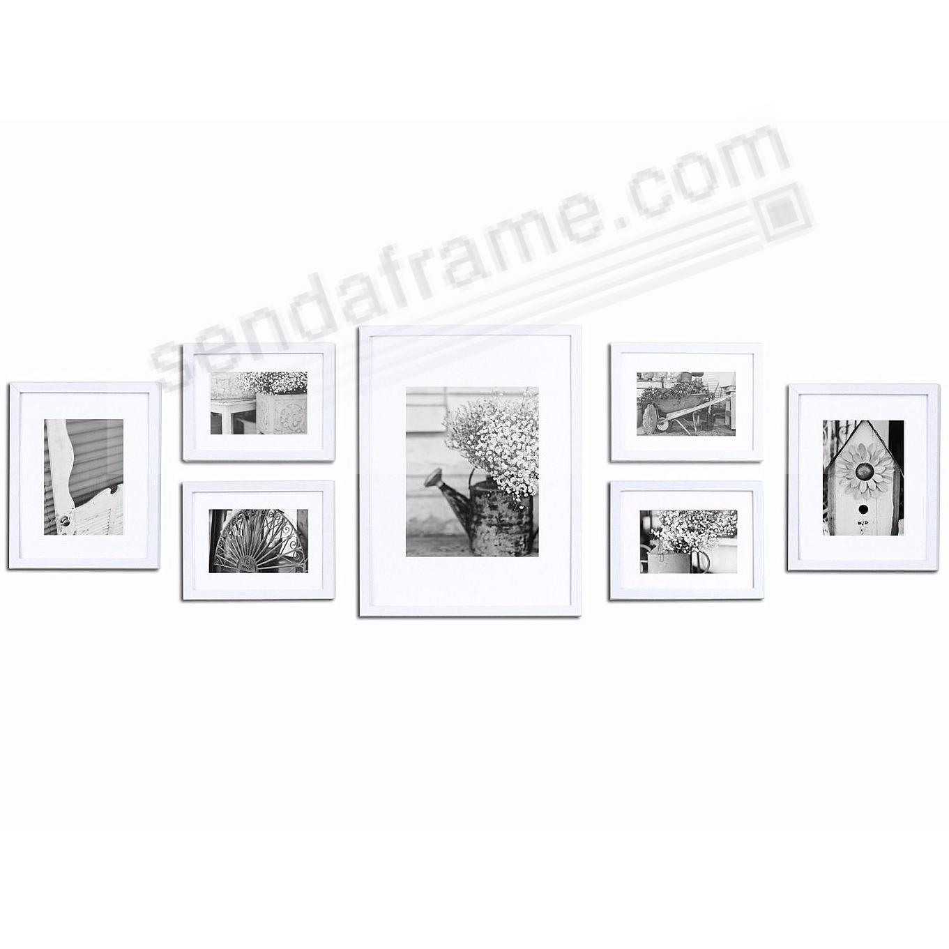Picture frames photo albums personalized and engraved digital 7piece white wood wall frame kit by gallery solutionstrade jeuxipadfo Choice Image