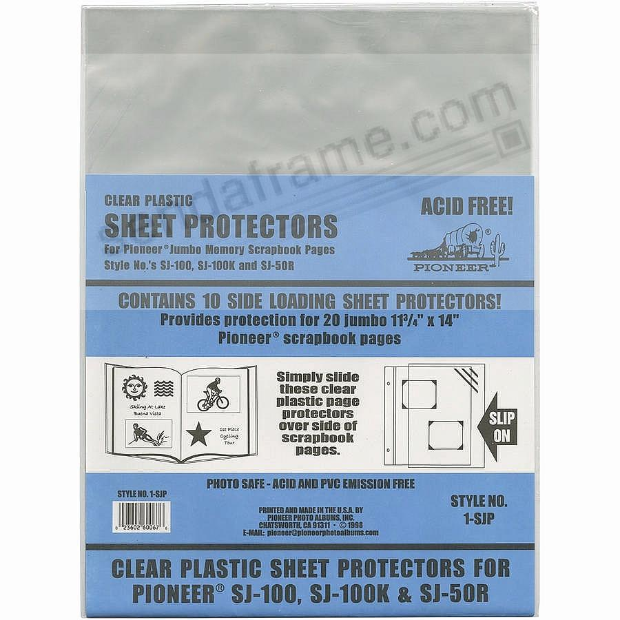 Genuine Pioneer® Clear Plastic Page/Sheet Protectors - Picture ...