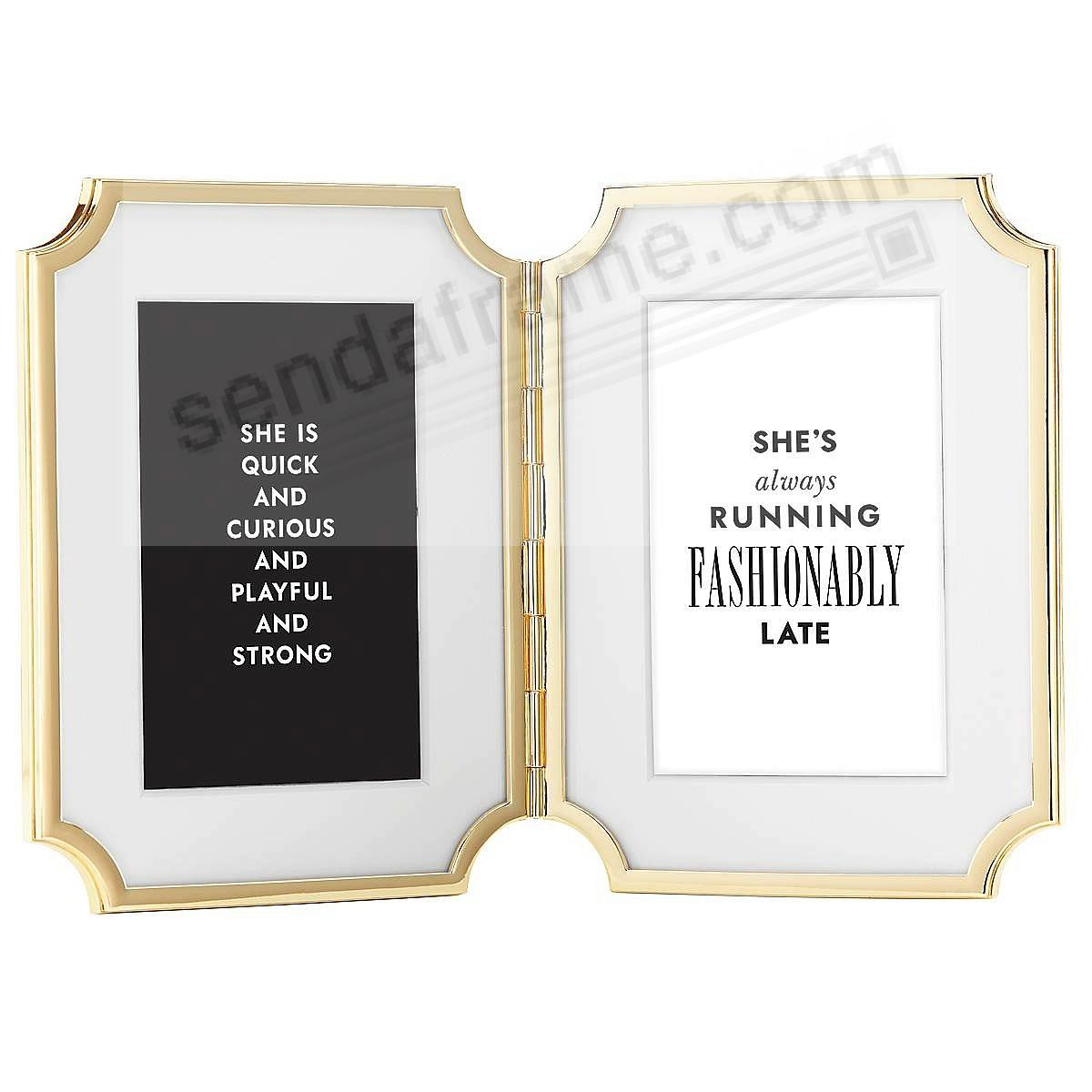 SULLIVAN STREET GOLD frame Hinged Double for 4x6 prints by kate ...