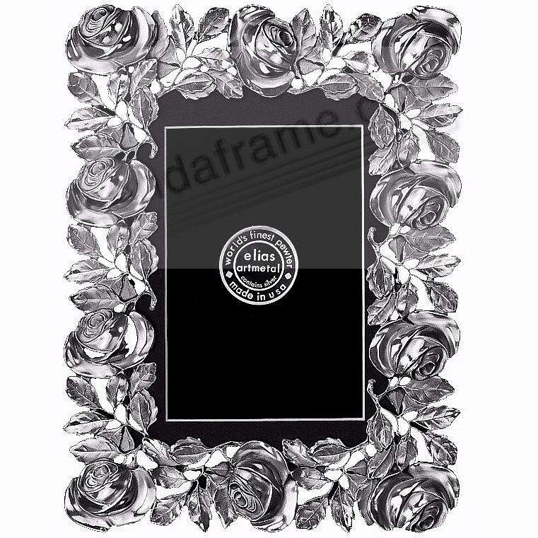 The ROSES FRAME Fine Pewter 11x14/8½x11 by Elias Artmetal® - Picture ...