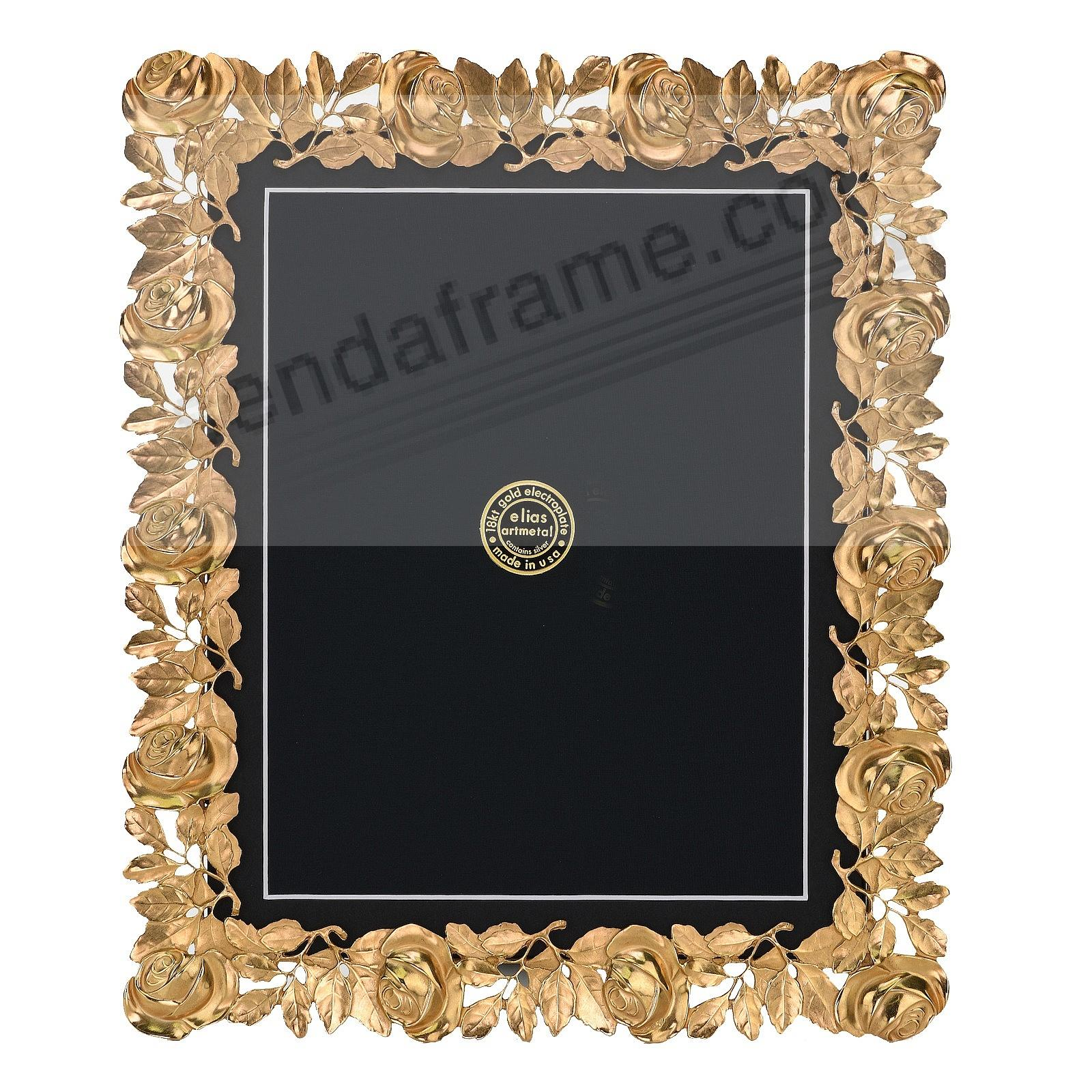 The ROSES FRAME 18kt Gold Vermeil 9x12 / 8x10 by Elias Artmetal®