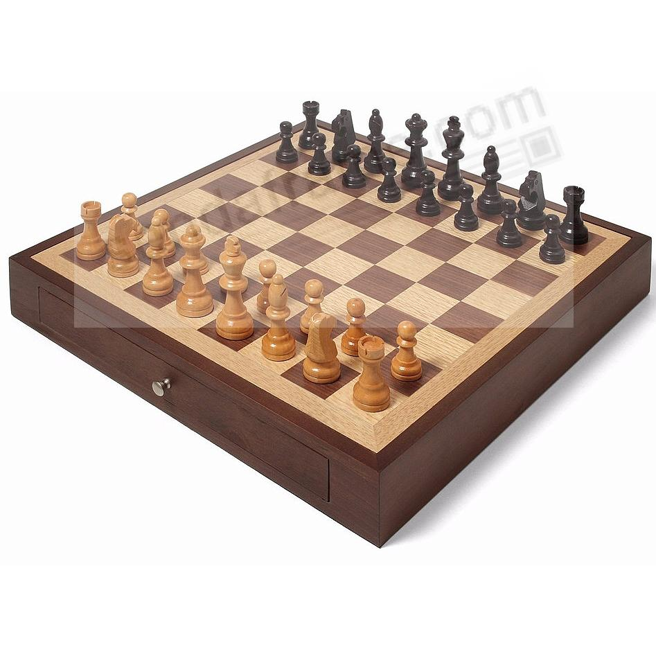 collectors edition wood chess set by swing design