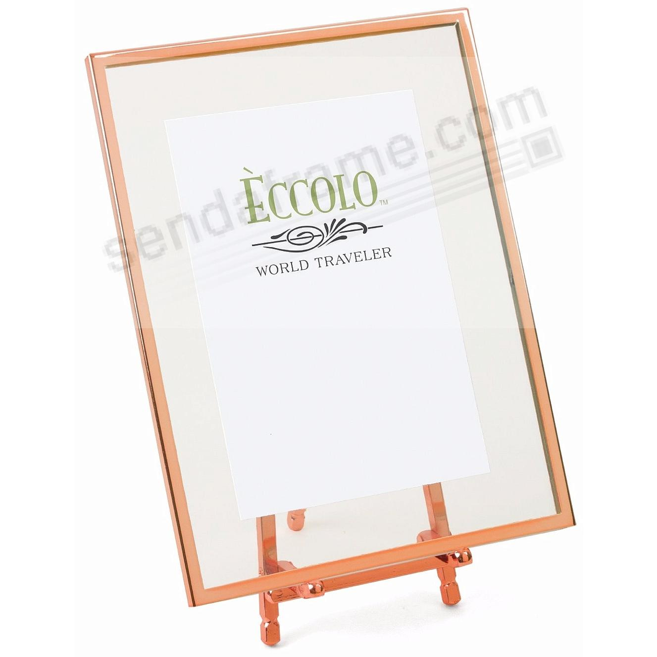 Copper FLOATING GLASS EASEL 4x6 by Eccolo® - Picture Frames, Photo ...