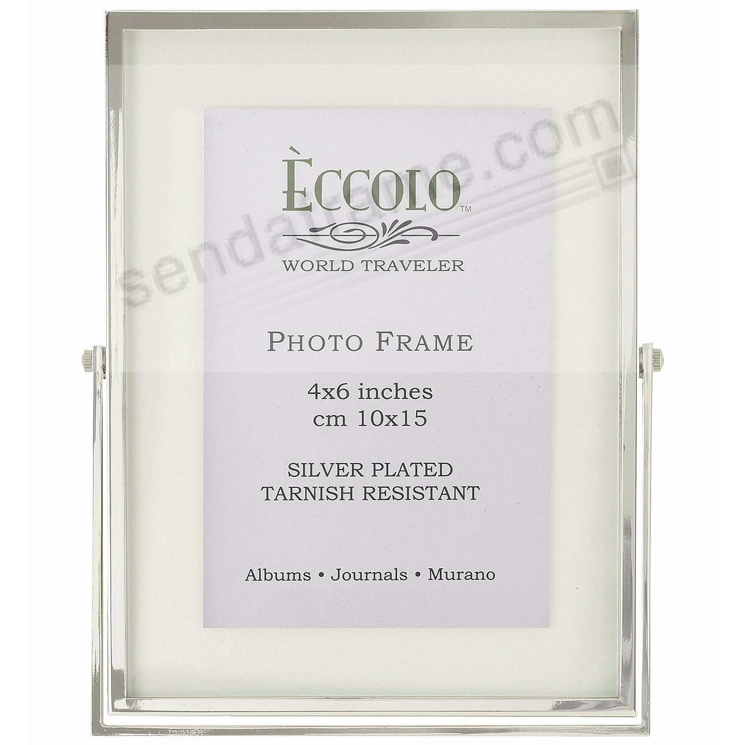 Silverplate FLOATING GLASS 4x6 by Eccolo® - Picture Frames, Photo ...