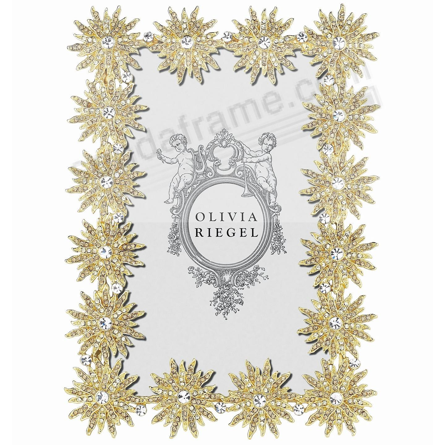 ELECTRA GOLD Light-Topaz + Crystal 4x6 frame by Olivia Riegel®