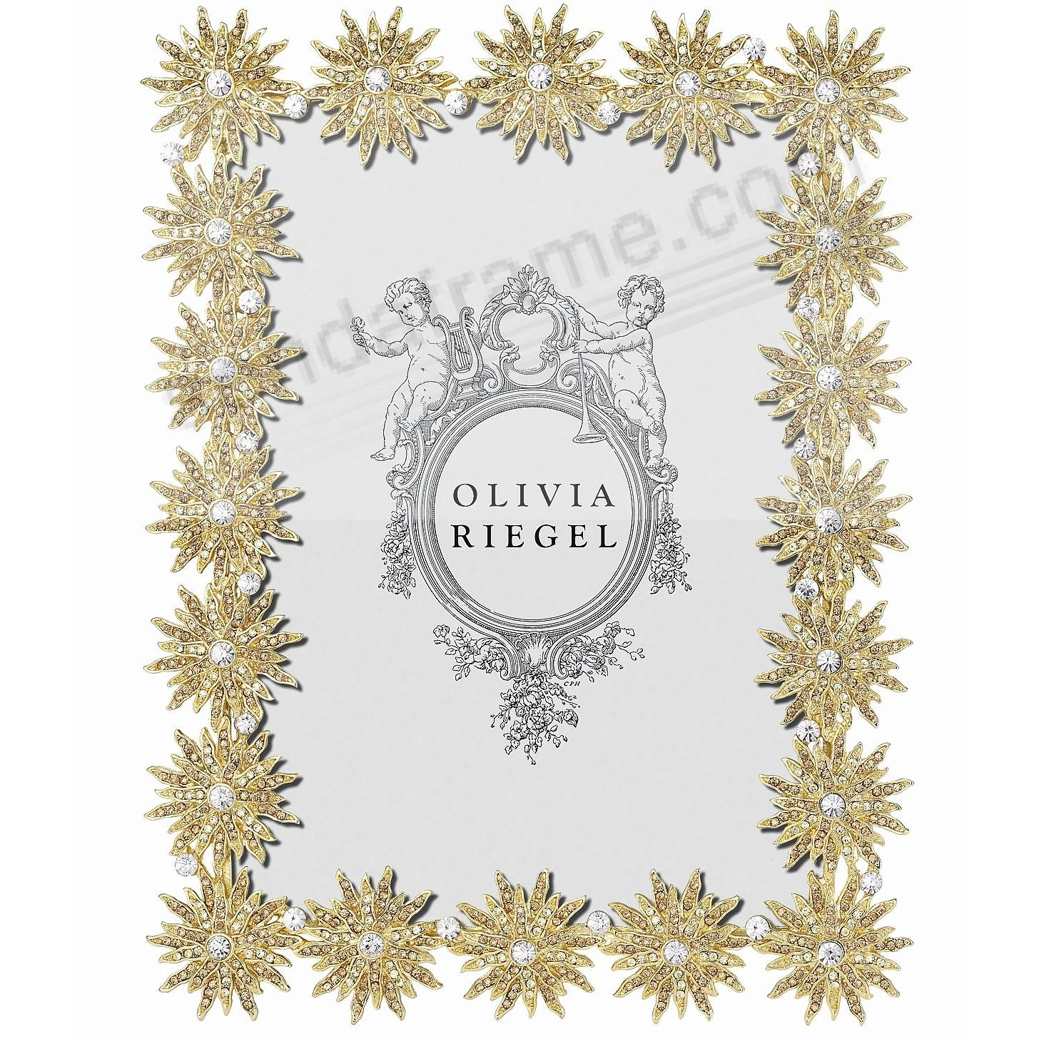 ELECTRA GOLD Light-Topaz + Crystal 5x7 frame by Olivia Riegel®