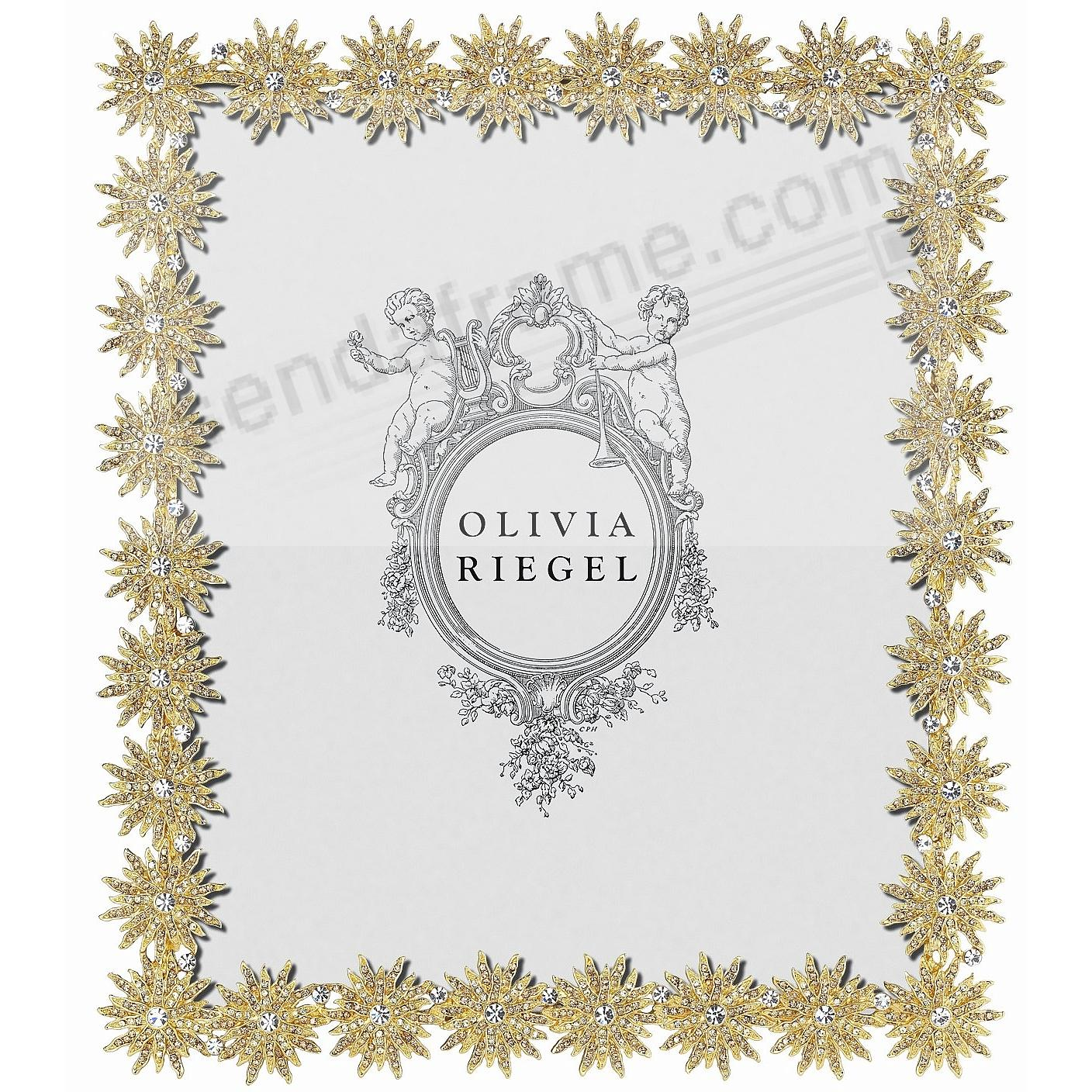 ELECTRA GOLD Light-Topaz + Crystal 8x10 frame by Olivia Riegel®