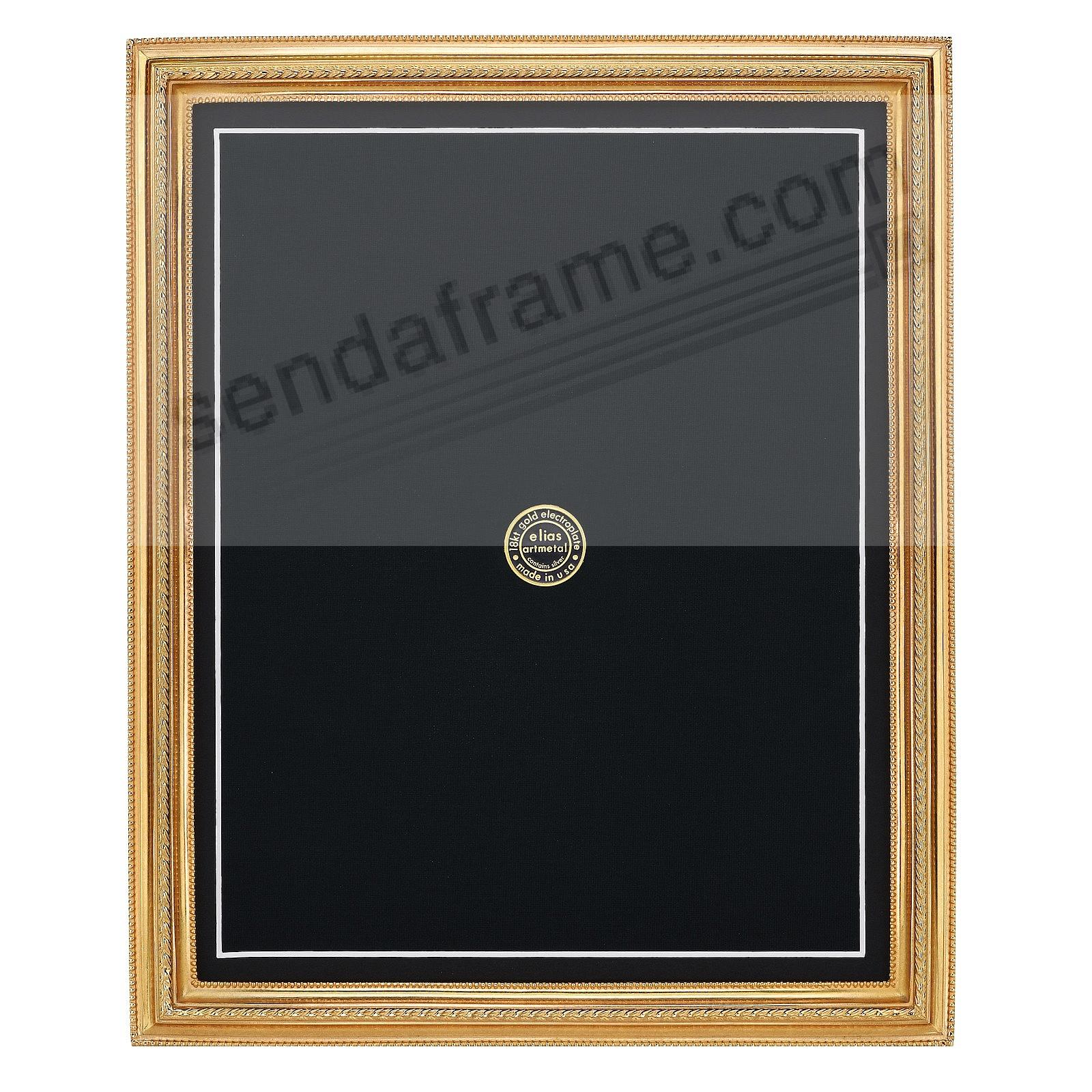 Gold PINNACLE 18kt vermeil 11x14/8x11 frame by Elias Artmetal®