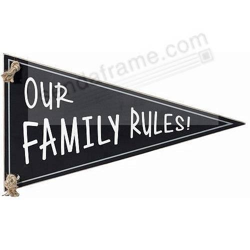OUR FAMILY RULES Pennant Box Sign by Malden® - Picture Frames, Photo ...
