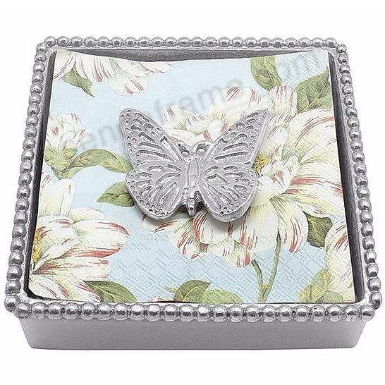 MONARCH BUTTERFLY BEADED Napkin Box by Mariposa®