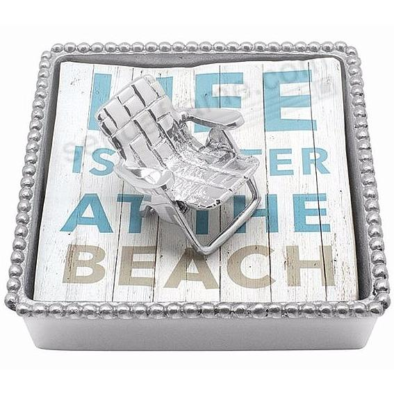 BEACH CHAIR BEADED Napkin Box by Mariposa®