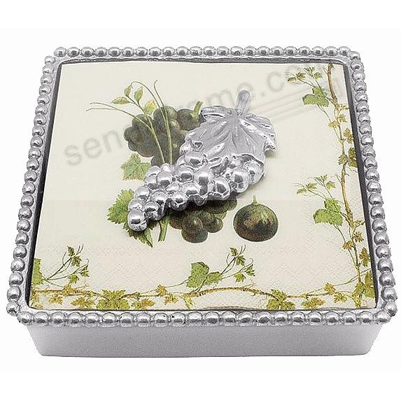 GRAPES BEADED Napkin Box by Mariposa®
