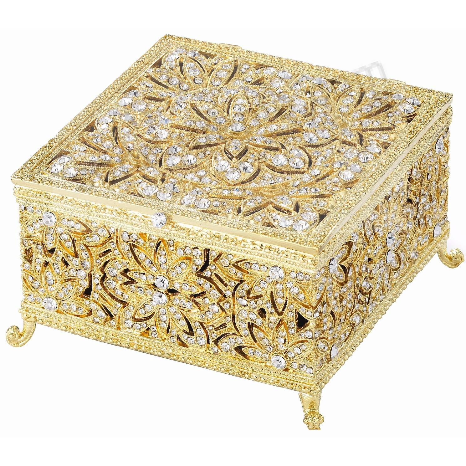 GOLD LARGE WINDSOR BOX by Olivia Riegel®