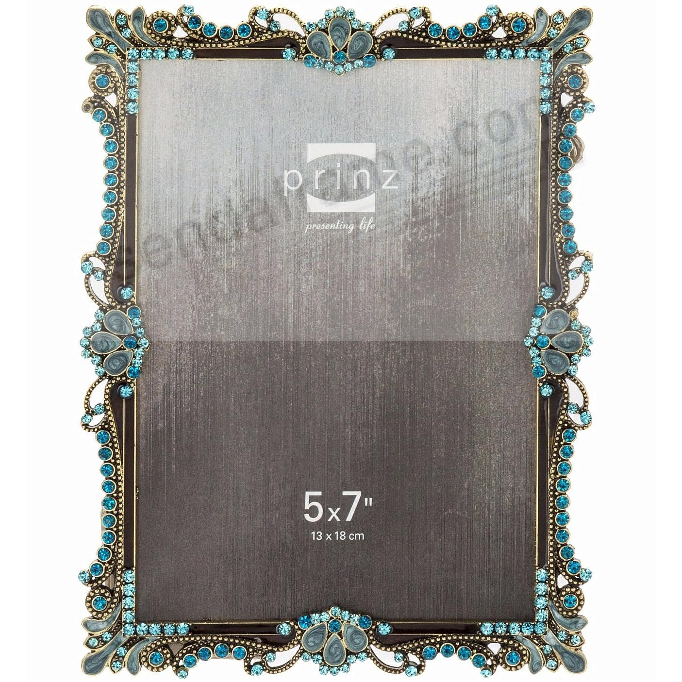 ARMITAGE Antique Silver Turquoise Jewels 5x7 frame by Prinz