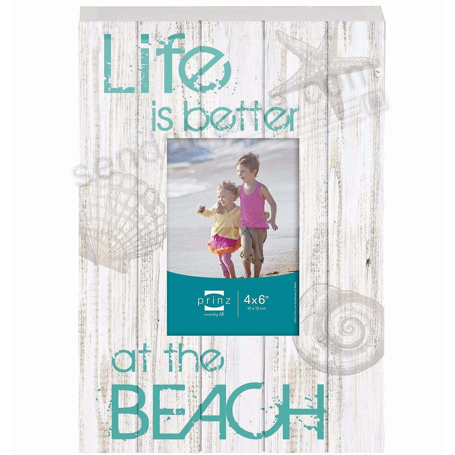 LIFE IS BETTER AT THE BEACH<br>Distressed Wood Frame Sign by Prinz&reg;