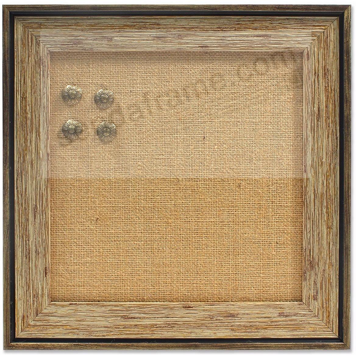 Weathered Walnut Functionals Burlap Board Frame by Lawrence®