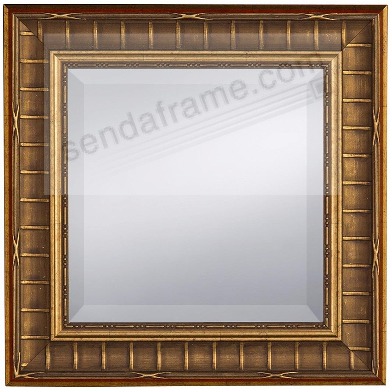 Gold Finish BAMBOO Pattern Mirror 17x17 by Prinz® - Picture Frames ...