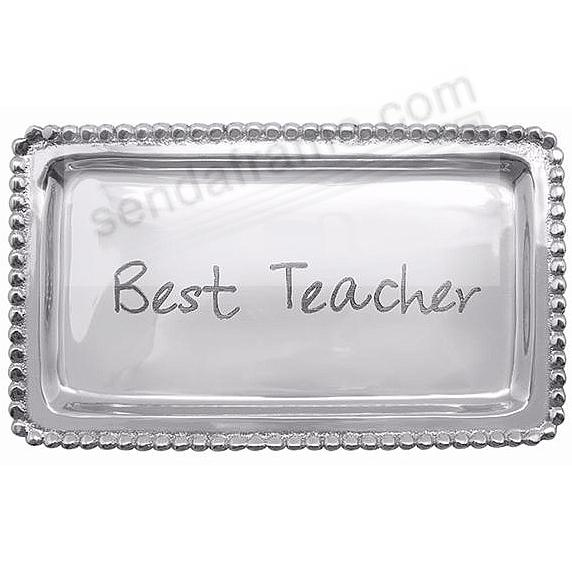 BEST TEACHER STATEMENT TRAY crafted by Mariposa®