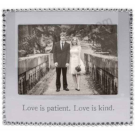 LOVE IS PATIENT. LOVE IS KIND. Statement frame crafted by Mariposa®