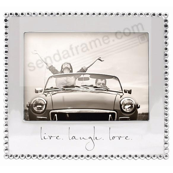 LIVE. LAUGH. LOVE. Statement frame crafted by Mariposa®