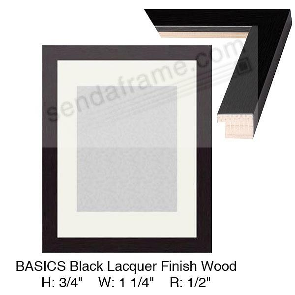 Custom-Cut BASICS™ Charcoal Lacquer Finish H:¾ W:1-¼ R:½